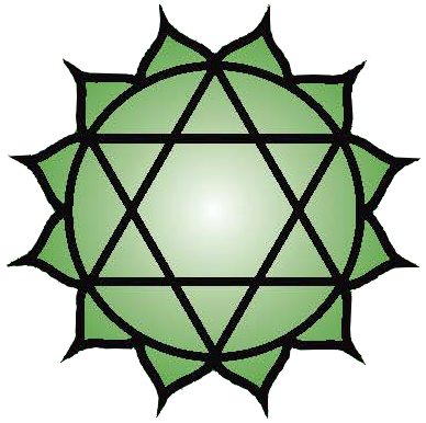 Heart chakra symbol: click to view information about the Heart chakra
