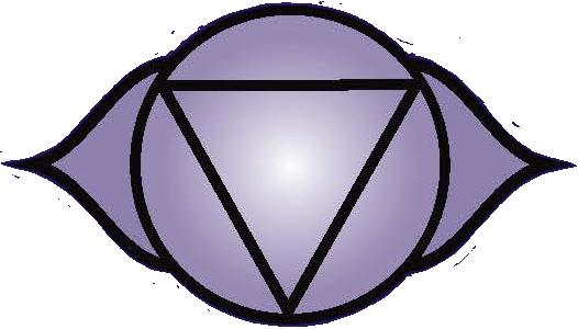 Third Eye chakra symbol: click to view information about the Third Eye chakra