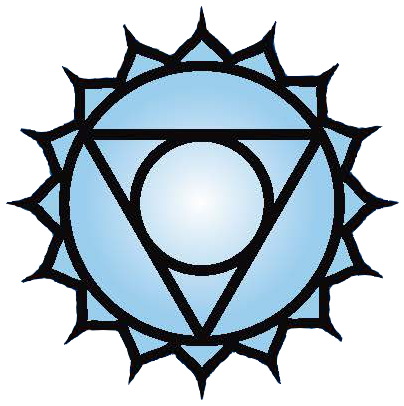 Throat chakra symbol: click to view information about the Throat chakra