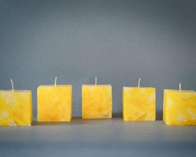 'Solar Plexus' – Chakra Candle – 3 CHUNK size candles – burns 24 hours